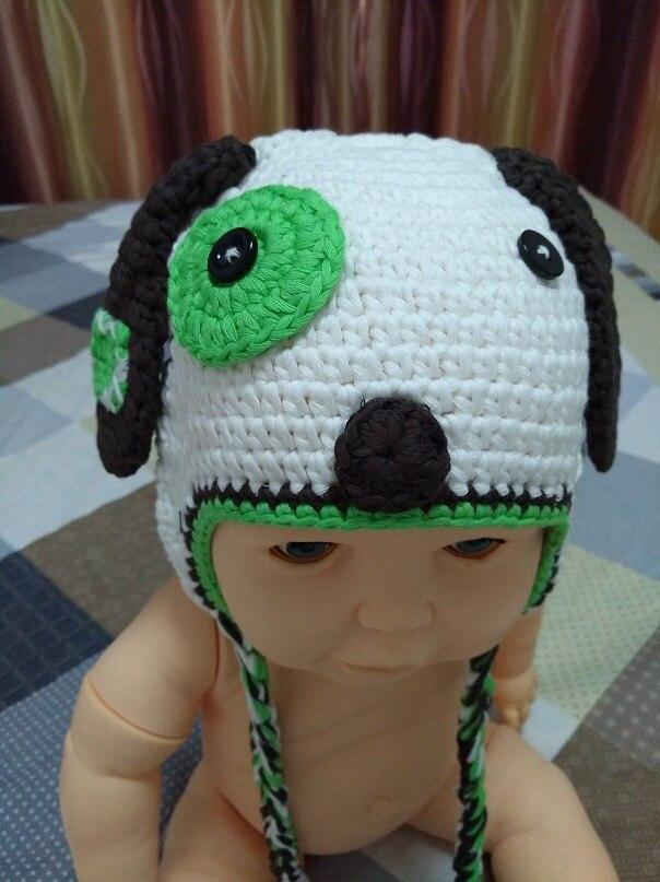 100% Wahr Cartoon Babby Doggy Hut Caps, Nettes Handgemachtes Baby Kind Häkeln Baumwolle Hund Hut Welpen Hut Foto 100% Baumwolle