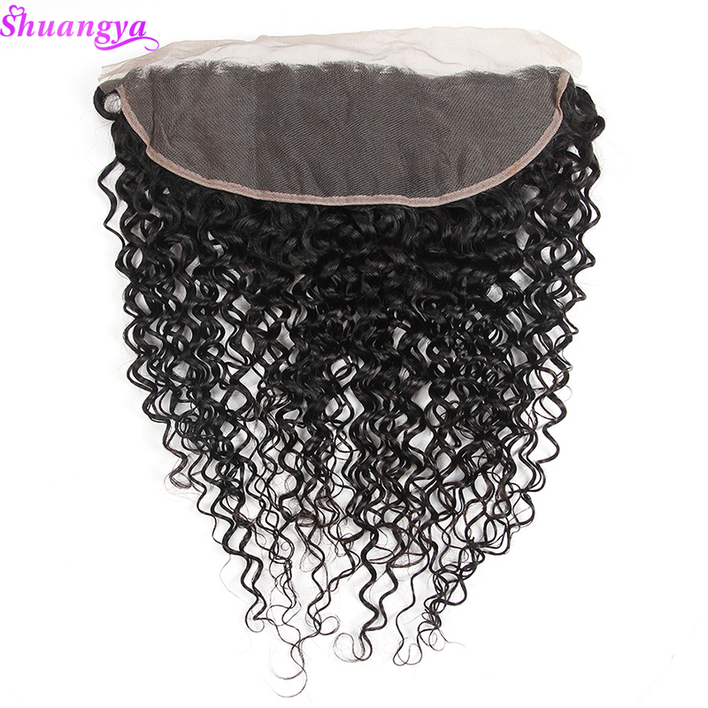 Shuangya Brazilian Water Wave Lace Frontal Closure 8 20 Free Middle Three Part Ear to Ear