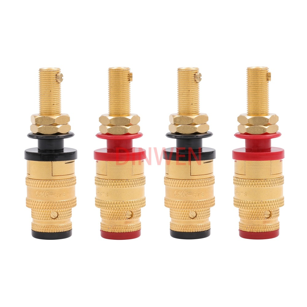 CMC 858-S-G Nickel Free Gold Plate Speaker Binding Pots 2 pairs