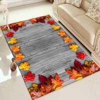 Anderes Braun Holz auf Herbst Rot Gelb Blätter 3d Print Non Slip Mikrofaser Wohnzimmer Dekorative Moderne Waschbar Bereich Teppich matte