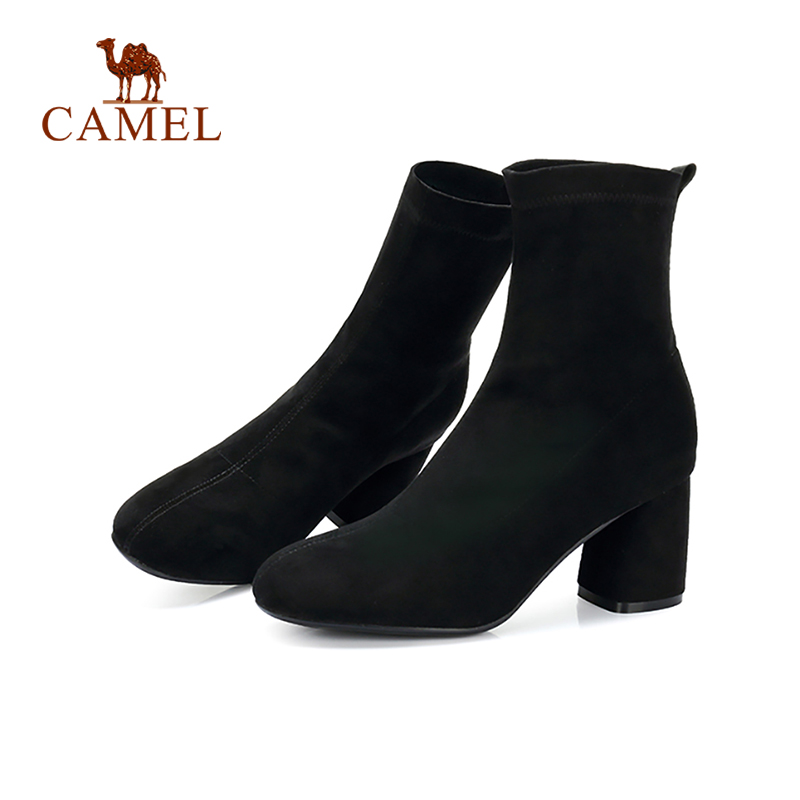 Dames Rome Sauvage Pour Femmes Cuir À Cheville Soild Bottes Mode Simple Black Hauts Casual Courtes Talons Rétro Chameau En qB0nY7ZxwZ