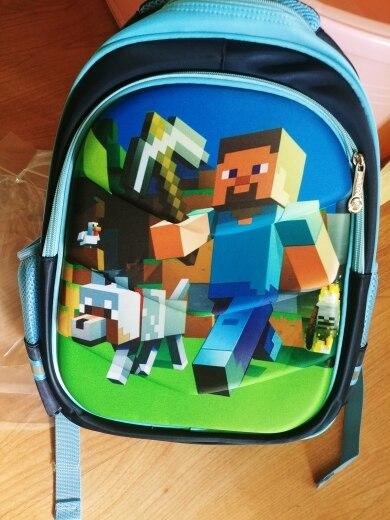 Cartoon Game Minecraft Boy Girl Baby Children Kindergarten Nursery School bag Bagpack Schoolbags Canvas Kids Student Backpacks photo review