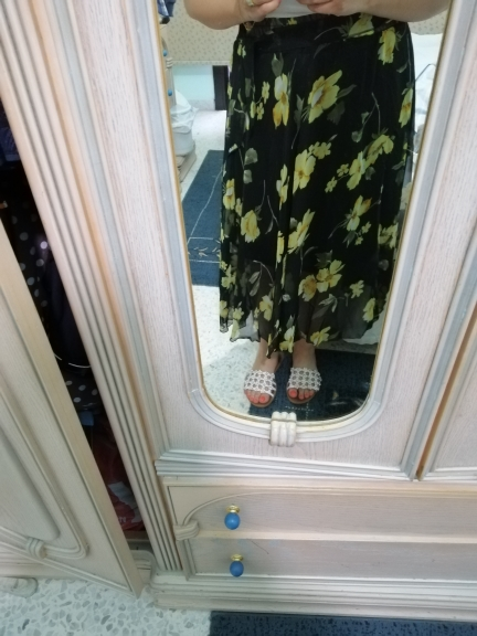 Summer Long Skirts Women Elegant Casual Chiffon Plus Size Skirt High Waist Floral Print Streetwear Maxi Ladies Beach Skirts photo review