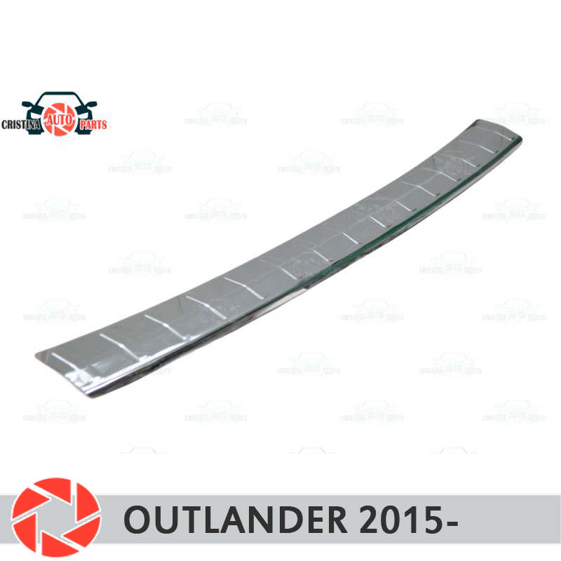 Couvercle de plaque pare-chocs arrière pour Mitsusbishi Outlander 2015-plaque de protection voiture style décoration accessoires moulage timbre