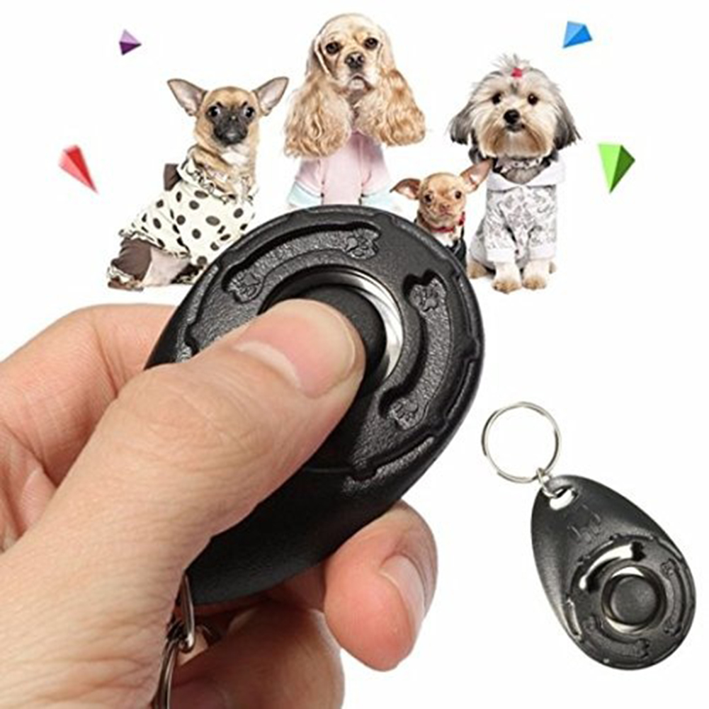 Pet Training Clicker Effective Behavioural Training Tool for Cats Birds Puppy Recall ASCAFO Black Puppy Dog Training Clicker with Wrist Strap