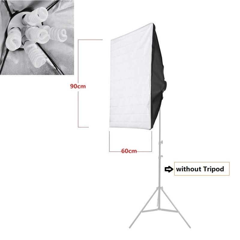 Tycipy 60x90cm Softbox E27 Lamp Holder Socket Soft Cloth For Photography Studio Lighting Photographic Equipment for