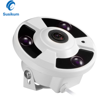 2MP 4MP AHD Indoor Camera 3Pcs Array Leds 180 Degree Wide Angle Fisheye Panoramic Lens Surveillance IR Infrared CCTV Camera