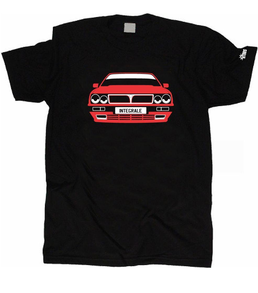 Custom Htees T-Shirt Lancia Delta Hf Integrale Pick Car Colour Plate S XXXL T Shirt Funny T-Shirt Men