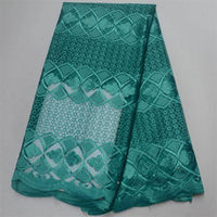 Aqua green Net Lace High Quality Nigerian French Lace African Lace Fabric For Party Dress Free Shipping