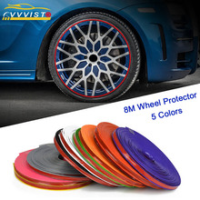 Car Sticker 8M/Roll Wheel Hub Tire Decals Auto Decor Styling Strip Rim Protection Covers Accessories