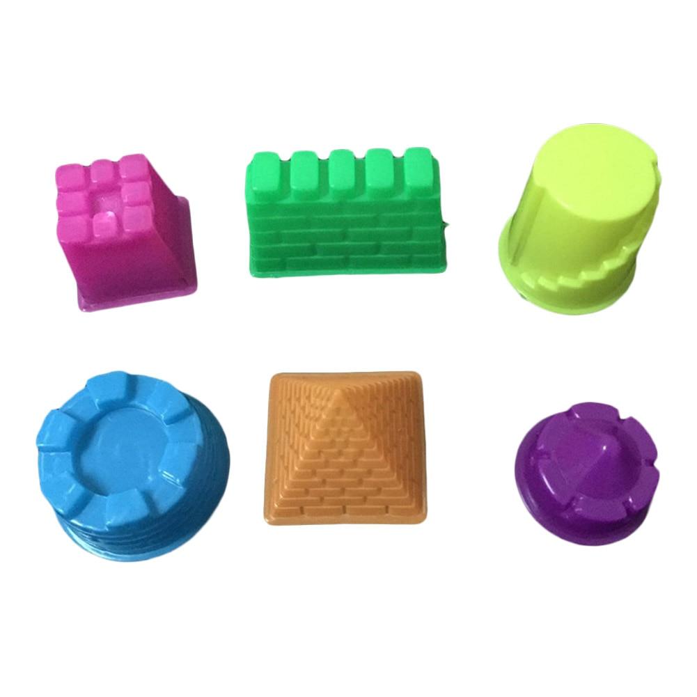 6 pcs /set Space mold sand Castle Tools Plasticine Molds Play Tool Set Kit For Kids Gift Magic Sand Mold corlor random