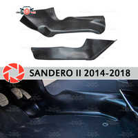 Schutz platte abdeckung von inneren tunnel für Renault Sandero 2014-2018 unter füße trim zubehör schutz teppich auto styling
