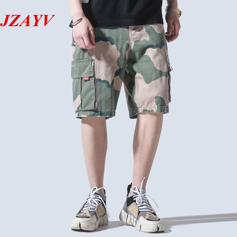 2018 Brand Mens Military Cargo Shorts New Army Camouflage Shorts Men Cotton Loose Work Casual Short Pants Plus Size