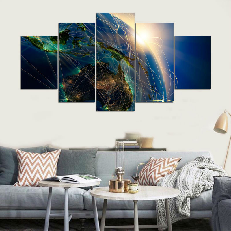 Top-Rated Canvas Printed One Set 5 Pieces Special Landscape Posters Paintings Home Decor Wall Art Modular Picture Modern Artwork