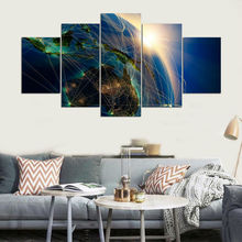 Top-Rated Canvas Printed One Set 5 Pieces Special Landscape Posters Paintings Home Decor Wall Art Modular Picture Modern Artwork top posters холст top posters 50х75х2см g 1044h