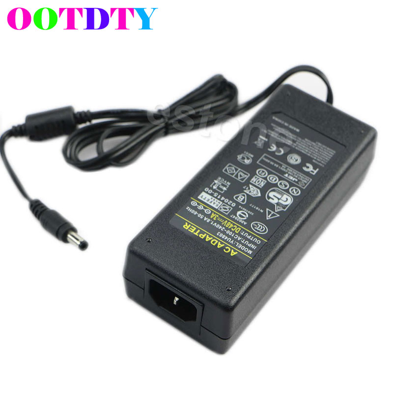 OOTDTY <font><b>AC</b></font> 100-240V to <font><b>DC</b></font> <font><b>48V</b></font> <font><b>3A</b></font> 120W Power Adapter Port 5.5mm x 2.5mm for PoE Switch APR10_35 image