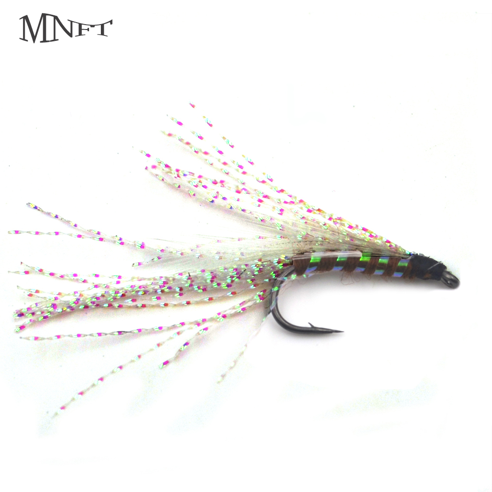 MNFT 10PCS 6# White Rainbow Crystal Outdoor Fly Fishing Lure