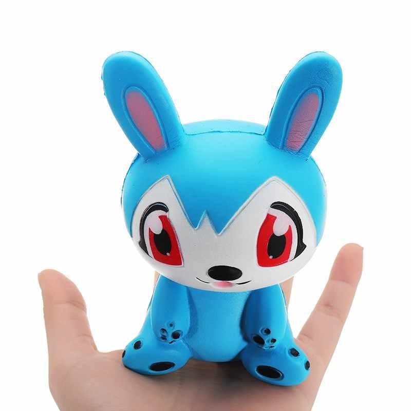 Новое поступление jumbo милые болотистый Кролик Синий 12 см замедлить рост игрушка сумка подарок коллекция Ароматические животных анти-стресс игрушка с упаковкой