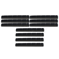 Yibuy 10PCS Stainless Steel 6String Guitar Nut Replacement for Electric Guitar Black
