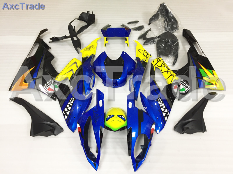 Motorcycle Fairings Kits For BMW S1000RR S1000 2015 2016 15 16 ABS Plastic Injection Fairing Bodywork Kit Yellow Blue Black A459 motorcycle blue bodywork kit fairing for bmw s1000rr s 1000 rr s 1000rr 2015 15 injection mold fairings cowl set uv painted
