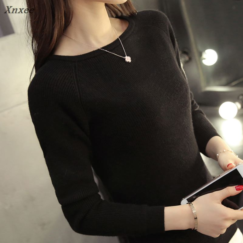 Xnxee Sweater female Spring cashmere sweater womens fashion sexy  and pullover warm long sleeve knit