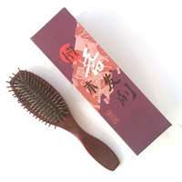 MC Brand Nature Violet Wood Tangle Hair Brush Health Airbag Massage Comb For Combing Hair Care Styling Bart Kamm Wooden Combs