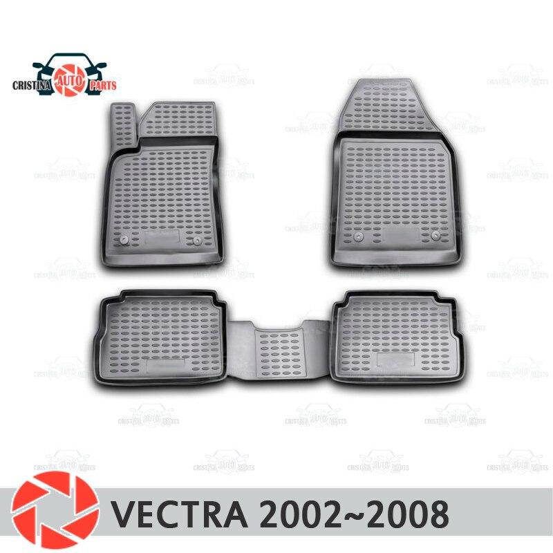 Tapis de sol pour Opel Vectra 2002 ~ 2008 tapis antidérapants en polyuréthane protection contre la saleté accessoires de style de voiture intérieure