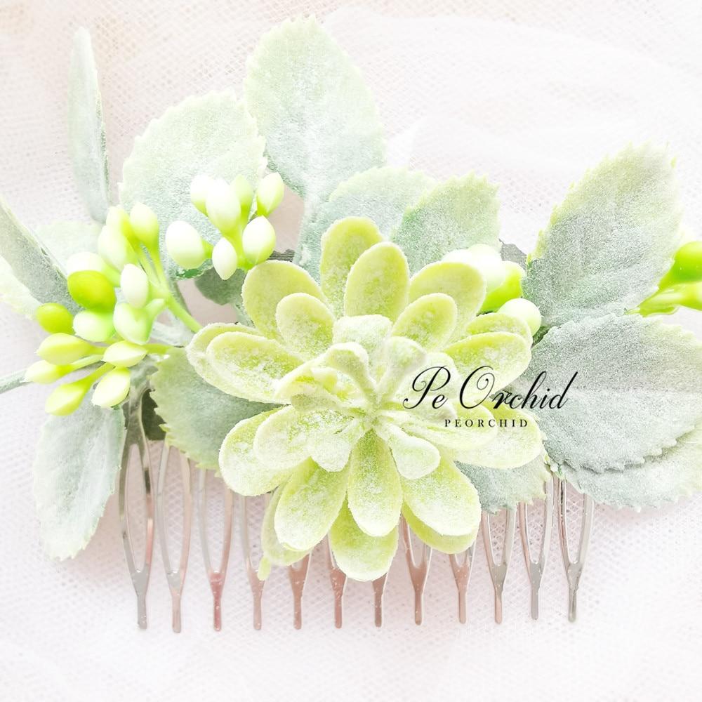 eucalyptus Hair comb greenery Bridal hair vine boho white flower ...