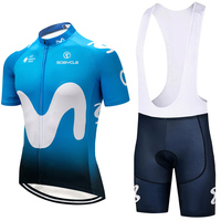 2018 Team SPAIN M Cycling Jersey 9D Gel Pad Bike Shorts Set MTB SOBYCLE Ropa Ciclismo