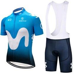 2019 equipo España M Ciclismo jersey 12D pad bicicleta pantalones cortos set MTB SOBYCLE Ropa Ciclismo hombre verano Ciclismo Maillot desgaste