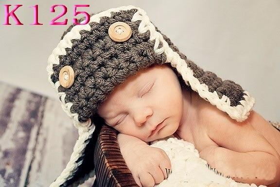 Crochet Baby Pilot Hats Beanie Knitted Baby Boy Winter Hats Toddler Crochet  Hat Caps Crochet Baby d3958069194
