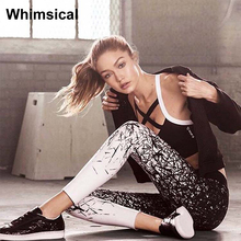 High Quality 2017 New Women Sports Yoga Pants Jogging Gym Running Tights Exercise Female Fitness Sportwear Trousers Leggings