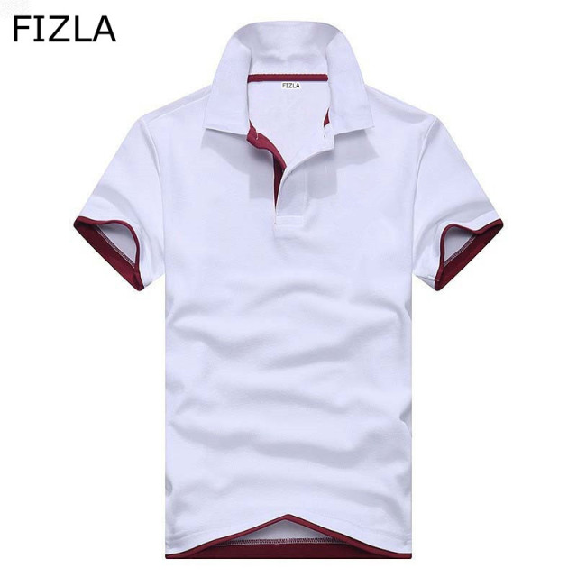 FIZLA Newest Brand Clothing men Polo Shirt High Quality Fashion Casual Style Polo Shirt Solid color Cotton Slim Fit polo shirts