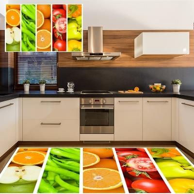 Else Slices Of Fruits Orange Red Apple Green Pepper 3d Print Non Slip Microfiber Kitchen Modern Decorative Washable Area Rug Mat