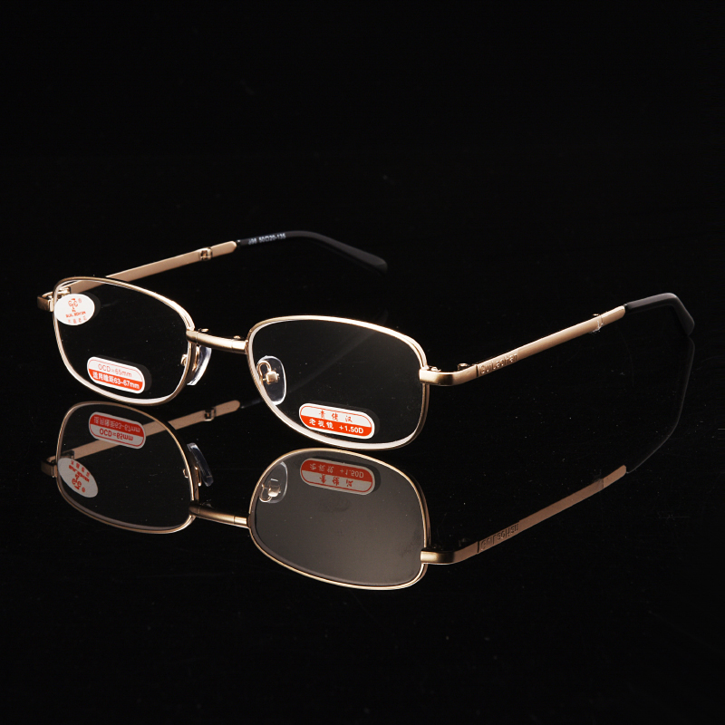 Zilead Classic Metal Reading Glasses Men Business Glass Presbyopic Eyeglasses Hyperopia Eyewear With Case +1.0...+6.0 Unisex