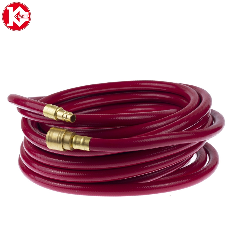 Фото - Kalibr 15 Polyurethane Air Compressor Hose Tube Flexible Air Tool With Connector free shipping 2pcs set throttle valve 4mm 12mm air flow speed control valve tube water hose pneumatic push in fittings