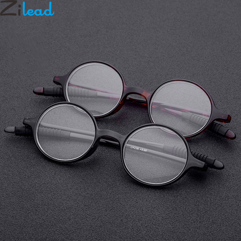 c2d2cff4fb Zilead Soft Simple Round Men Women Reading Glasses Ultralight Foldable  Spectacles Presbyopia Glasses for Male Female Unisex TR90