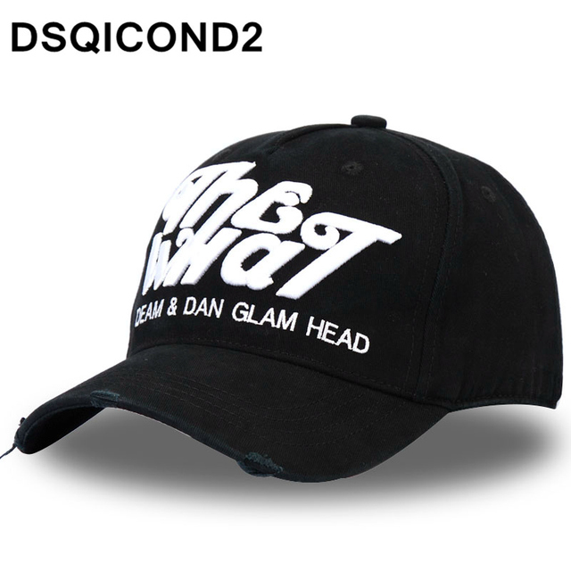 a29e9e3a9ad DSQICOND2 Cotton Baseball Caps DSQ Letters High Quality Men Women Cap  Custom Design ICON Logo Bonnet Homme Hat Black Cap Dad Hat
