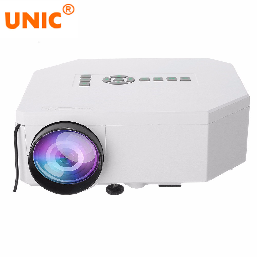 UNIC UC30 Portable Home Theater 150lumens 480*320 VGA HDMI USB SD AV Mini LED Projector Projetor Beamer unic p1 p1h dlp projector 30 ansi lumen mini tiny handheld pocket proyector built in battery home cinema theater beamer usb tf
