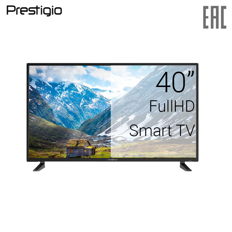 TV 40 Prestigio PTV40DS00Y_BK_CIS FullHD SmartTV 4049inchTV dvb dvb-t dvb-t2 digital