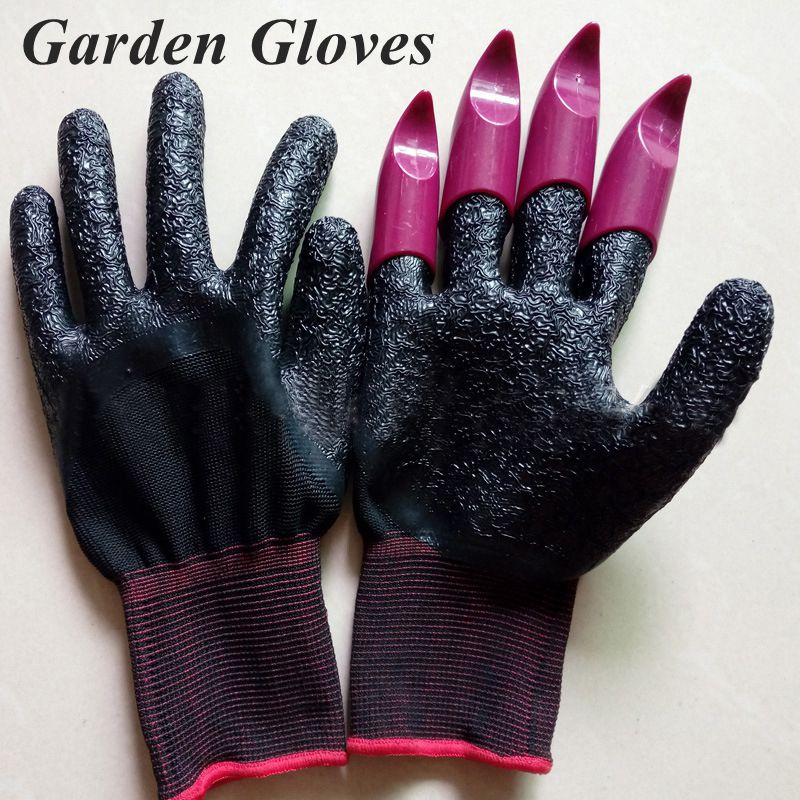 1 Pair Garden Gloves Rake Safety Gloves Colorful Claws Digging Planting  Tools Working Gloves Garden Supplies Gardening Tools