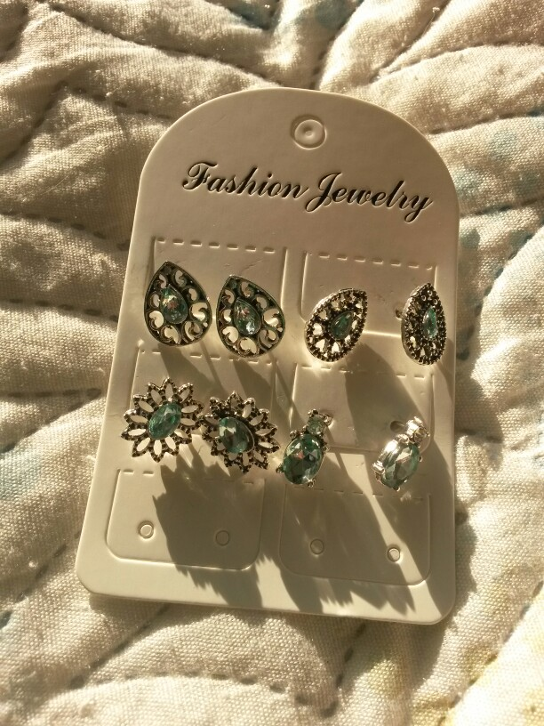 Crystal Earrings Jewelry Bohemian Stud Earring Green photo review