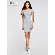 oodji 2017 overlying Dress silhouette with a deep cut on the back free shipping across Russia 240010822B47420 170 cm oodji 2017