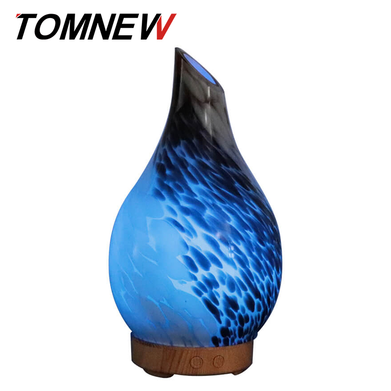 100Ml Glass Aromatherapy Essential Oil Diffuser Ultrasonic Aroma Diffuser Cool Mist Air Humidifier With 7 Colorful Light