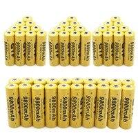 Gtf 500 шт. 18650 Батарея 3.7 В 9800 мАч Перезаряжаемые литий ионный аккумулятор Батарея для фонарик Аккумуляторы