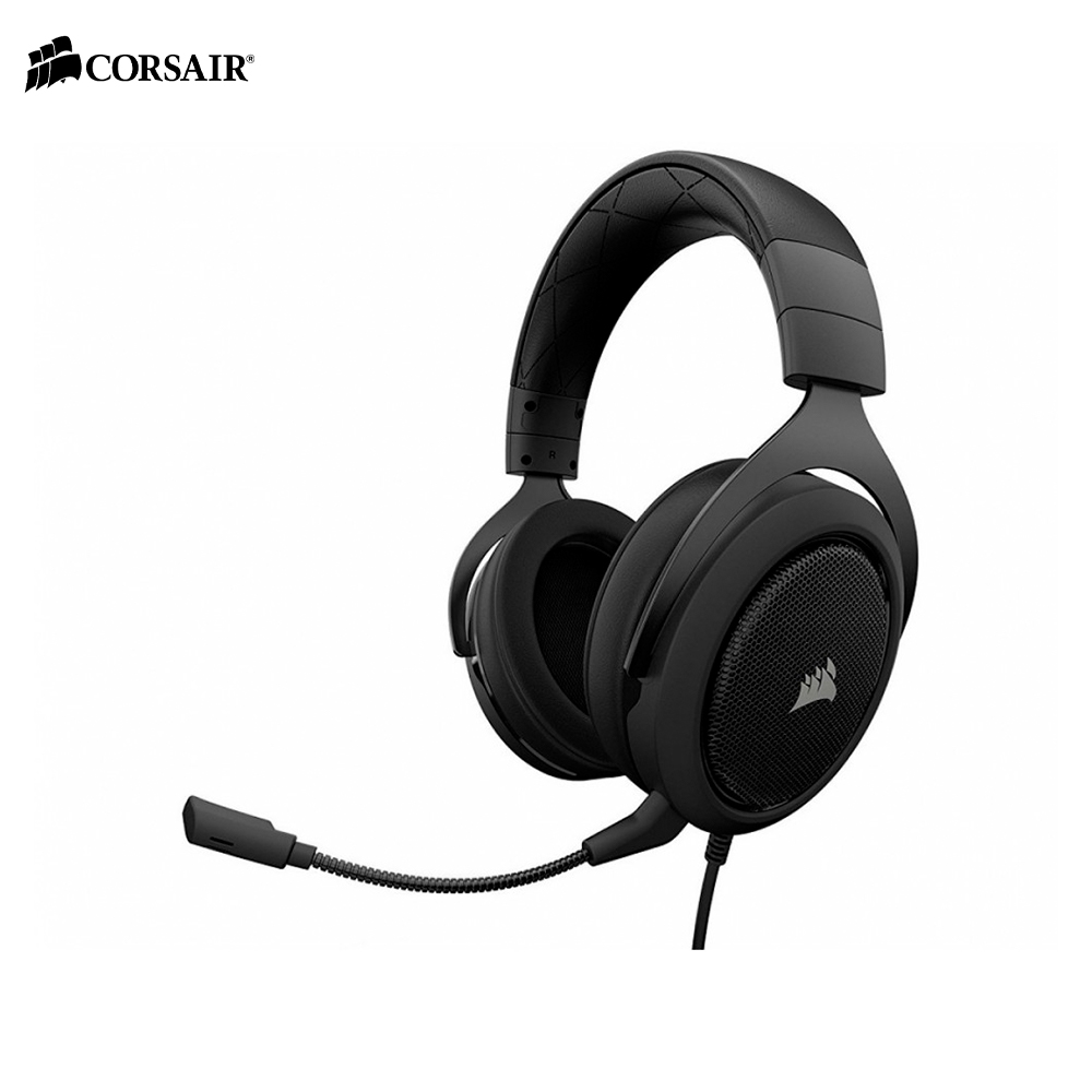 Earphones & Headphones CORSAIR HS60 CARBON Surround Gaming Headset wired esports computer PC original xiberia v10 usb gaming headphones vibration led stereo around gaming headset headphone with microphone mic for pc gamer