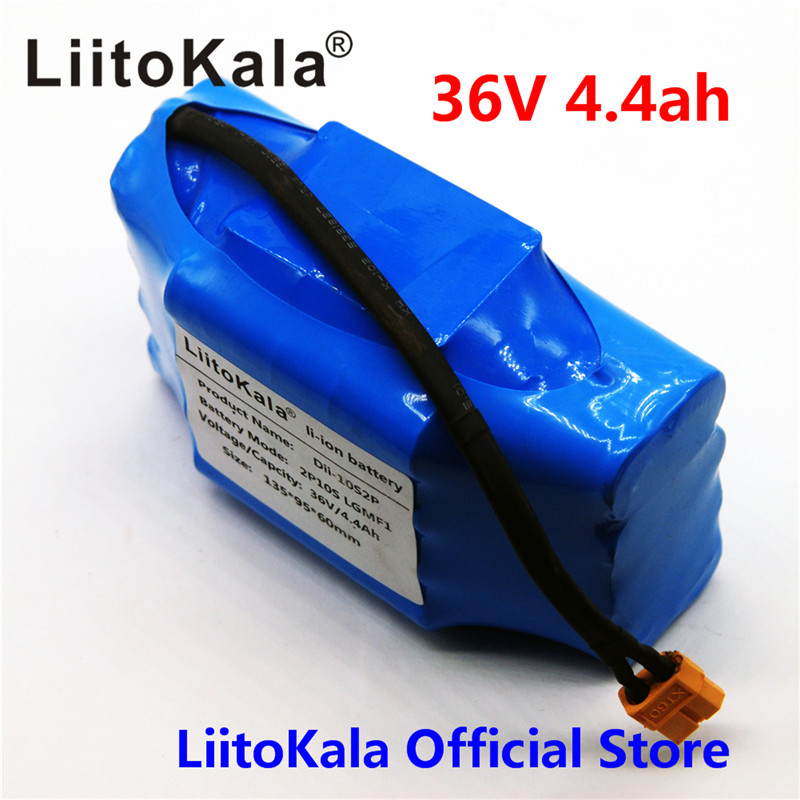 Liitokala 36V 4.4Ah 4400mah high drain 2 wheel electric scooter self balancing lithium battery pack for Self-balancing Fits