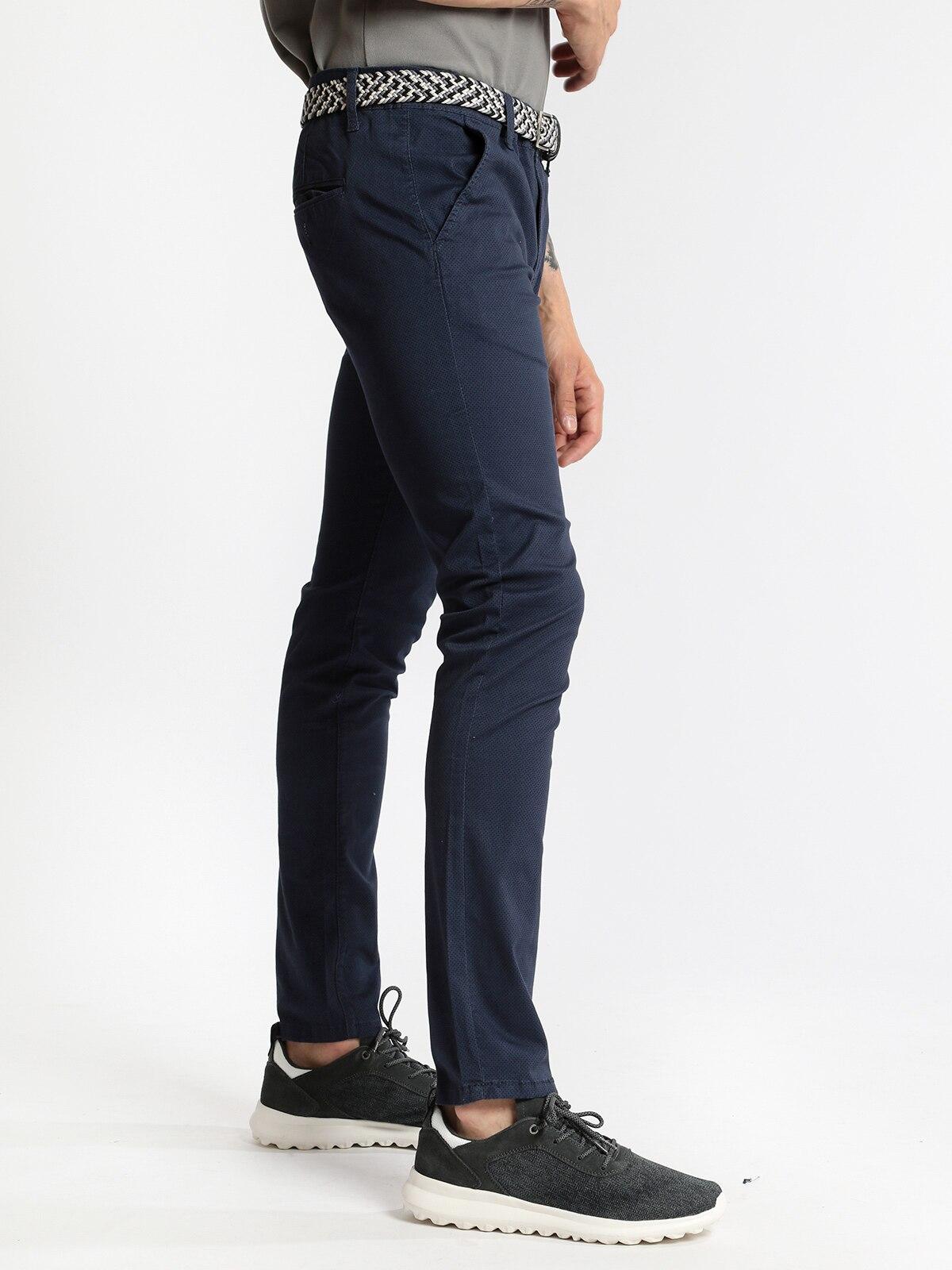 Chino Pants With Microfantasia