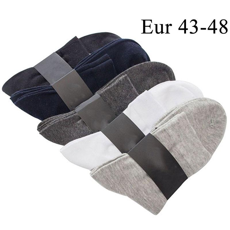 10PCS=5pairs Mens Cotton Dress Socks Plus Large Big Size 44,45,46,47,48,Business Dress Socks Calcetines Practical Male Sox Meias