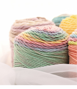 Mylb 1 piezas 100 gramos 2018 nuevo Color del arco iris hilo de algodón  suave Crochet hilo grueso para la mano que hace punto capa caliente suéter  envío ... fa60e716d589
